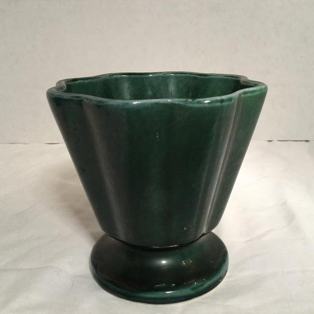 Deep Green Hull Flower Vase Chairish