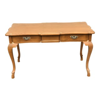 1980s French Pine Writing Desk For Sale