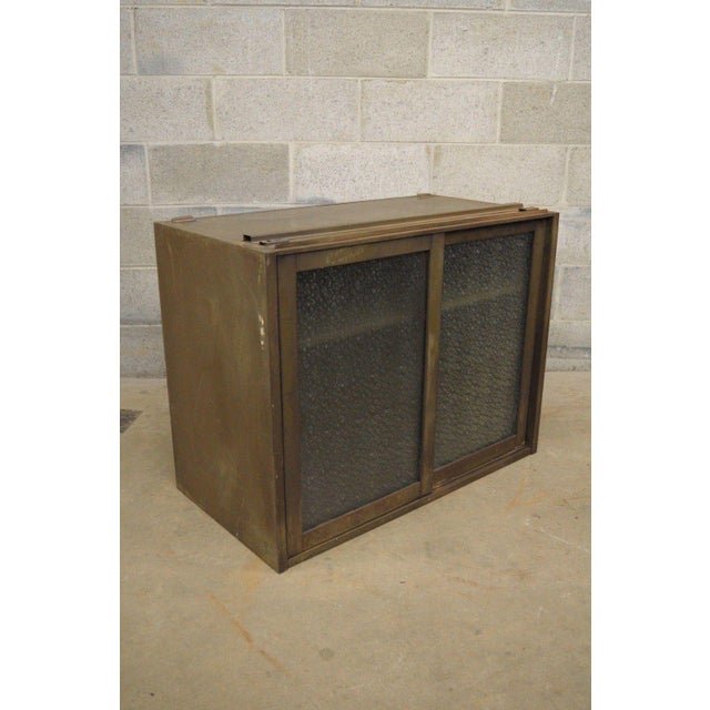 Remington Rand Industrial Green Steel Metal Stacking Barrister Storage Cabinet A For Sale - Image 12 of 12