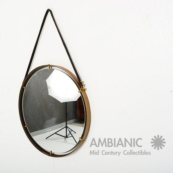 Brass Brass Wall Hanging Mirror For Sale - Image 7 of 9