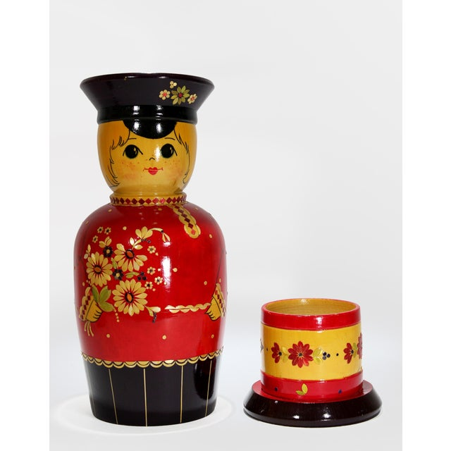 Vintage Russian Bottle Holding Soldier Dolls, Set of 2 For Sale In New York - Image 6 of 11