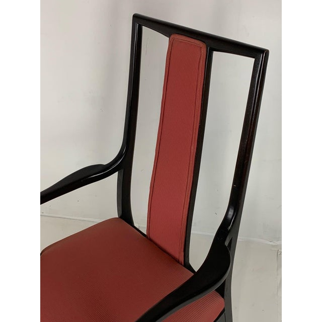 Mid 20th Century Pair of Sleek Mahogany Dining / Occasional Arm Chairs by John Stuart For Sale - Image 5 of 12