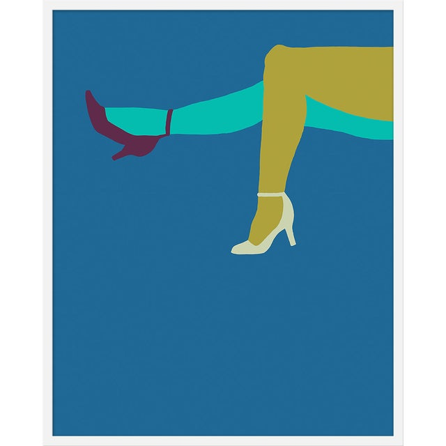 """Large """"Pump It Up Royal"""" Print by Angela Chrusciaki Blehm, 31"""" X 41"""" For Sale"""
