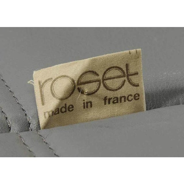 1970s Rare Original 1980's Five Piece Leather Togo Sofa Set by Michel Ducaroy for Ligne Roset For Sale - Image 5 of 6
