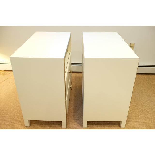 Boho Chic Lillian August Cream & Gold Chests/Nightstands - a Pair For Sale - Image 3 of 12