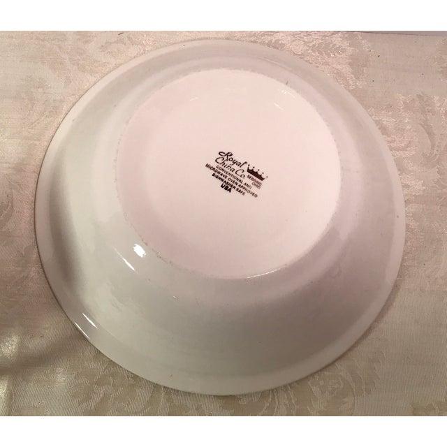 Mid-Century Modern Cream & Brown Wheat Serving Bowl - Image 6 of 8
