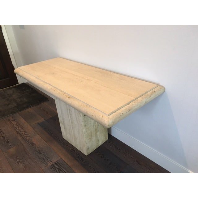 Italian Travertine Console Table - Image 3 of 3