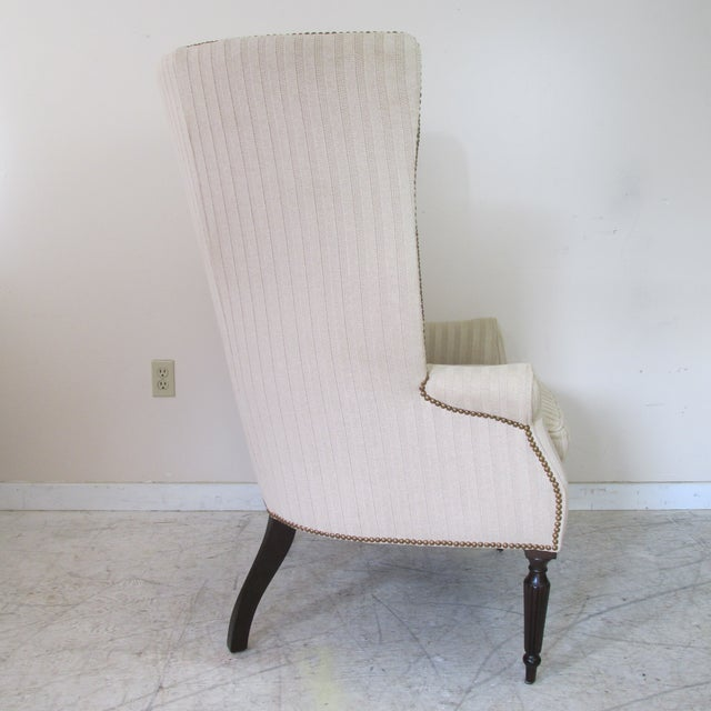 Victoria Hagan Victoria Hagen Home ''Wainscott'' Wingback Chairs- A Pair For Sale - Image 4 of 10