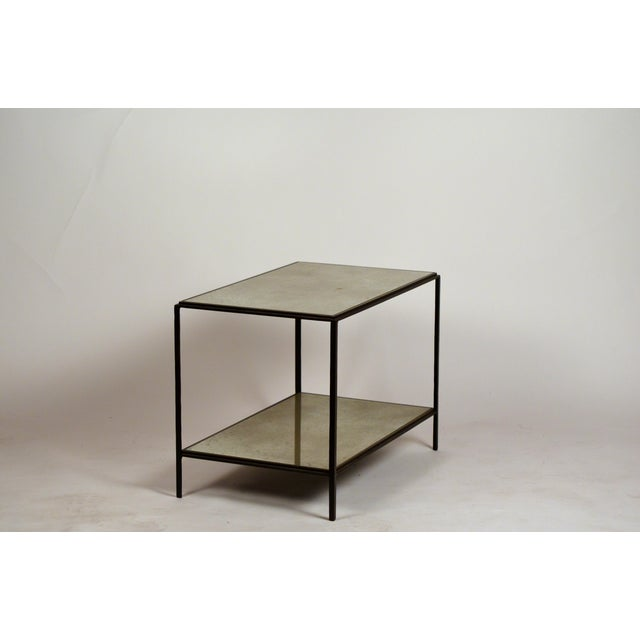 2010s 'Rectiligne' Mirrored End Tables by Design Frères - a Pair For Sale - Image 5 of 9