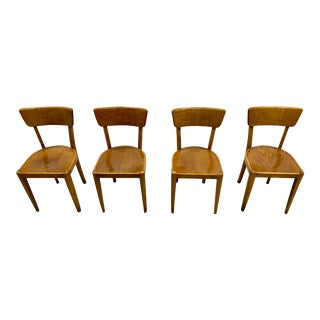 French Vintage Bistro Dining Chairs - Set of 4 For Sale