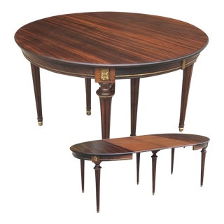 Antique French Directoire Dining Table (With 2 Leaves) For Sale
