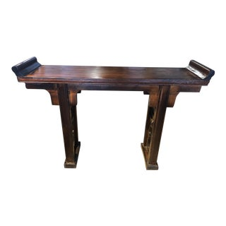 20th Century Asian Style Distressed Altar/Console Table For Sale
