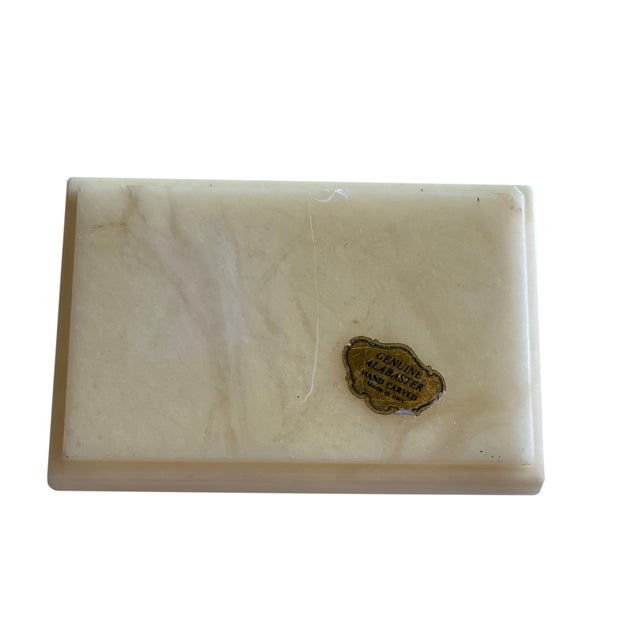 Stone Hand Carved Italian Alabaster Box For Sale - Image 7 of 10
