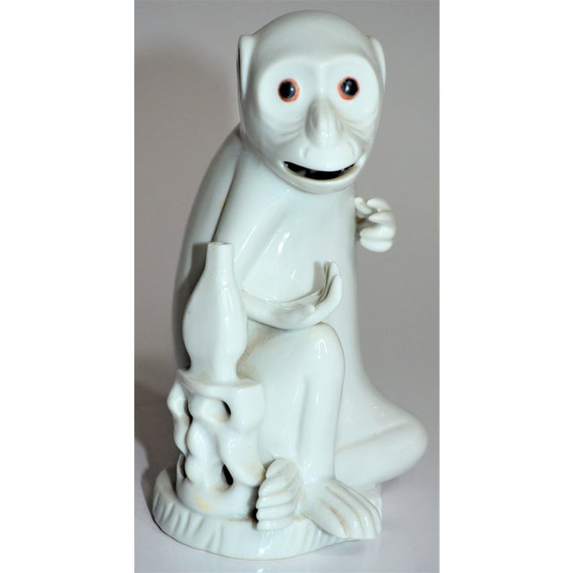 Vintage Italian White Porcelain Monkey Figurine For Sale - Image 10 of 10