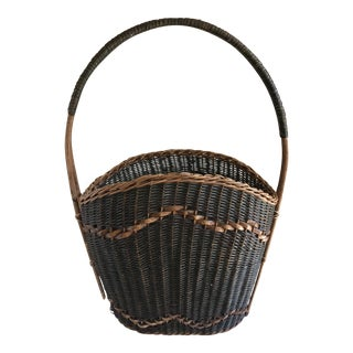 Woven Green & Brown Basket