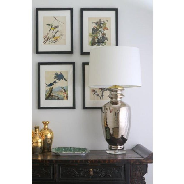 "Silver Paul Schneider Ceramic ""Marathon"" Lamp in Platinum Lustre Glaze For Sale - Image 8 of 9"