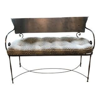 Traditional Metal Indoor/Outdoor Bench For Sale