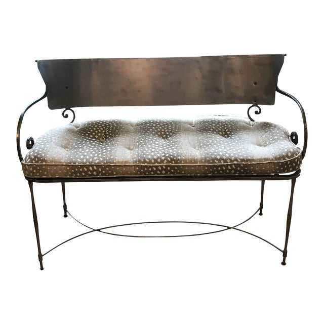 Traditional Metal Indoor/Outdoor Bench For Sale