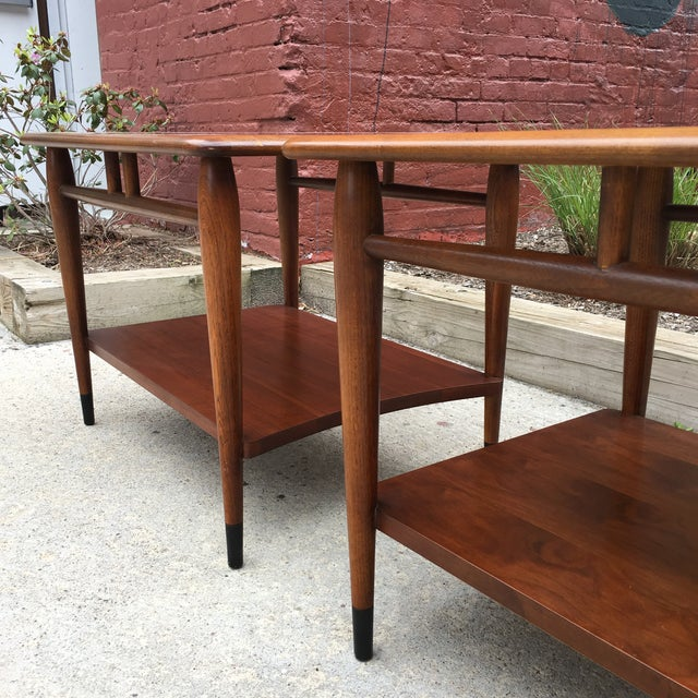Lane Acclaim Dovetail Side Tables - A Pair - Image 5 of 6