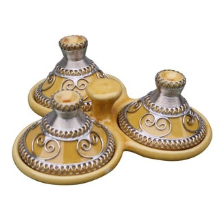 Moroccan Lidded Engraved Tagines Dish For Sale