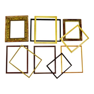 Vintage Wood Picture Frames - Group of 10 For Sale