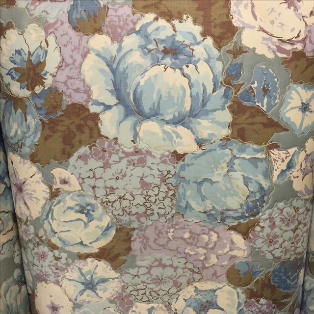 Large Peonies Upholstered Chairs - A Pair - Image 3 of 10