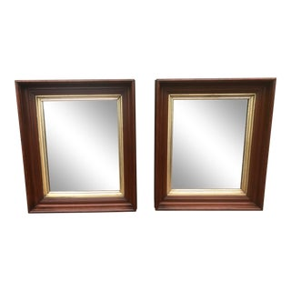 Late 19th Century Cherry Finished Frames With Mirrors - a Pair For Sale