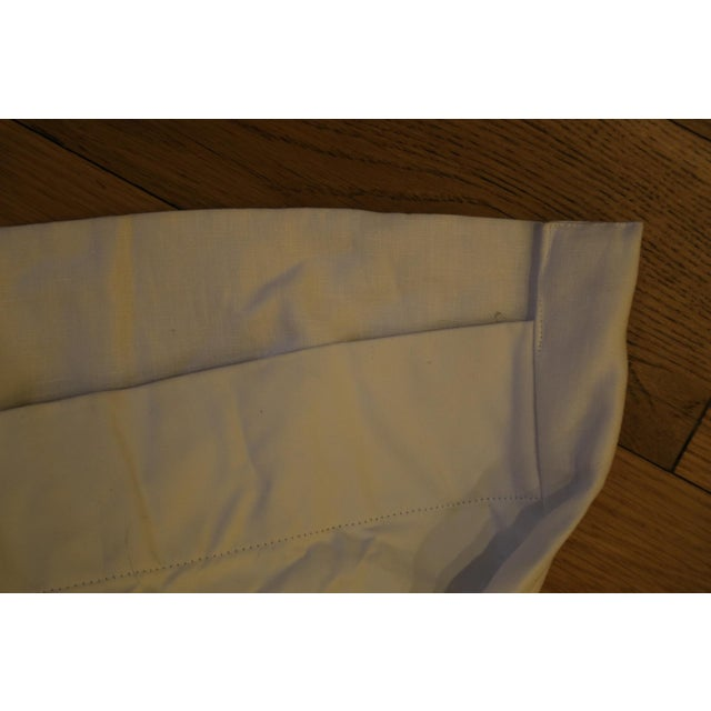 Cotton Wolfson Linen Drapes with Blackout & Nickel Rod - Set of 3 For Sale - Image 7 of 11