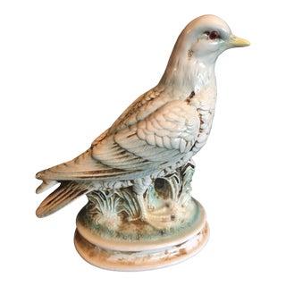 Vintage Mid-Century Majolica-Style Ceramic Dove Bird For Sale