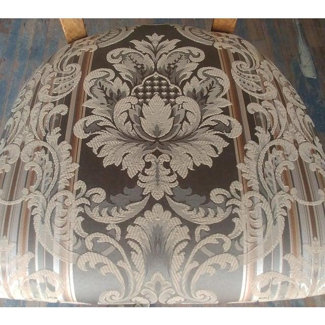 Henredon Henredon Furniture Arabesque Solid Antiqued Metal Ladies Desk Chair For Sale - Image 4 of 12
