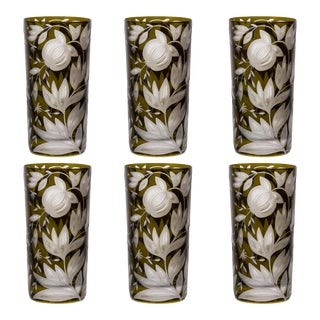 Verdure Highball Glasses Moss - Set of 6 For Sale