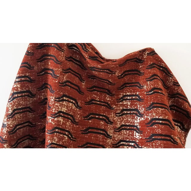 Transitional Virginia Kraft Bagha Fabric, 3 Yards in Henna For Sale - Image 3 of 3