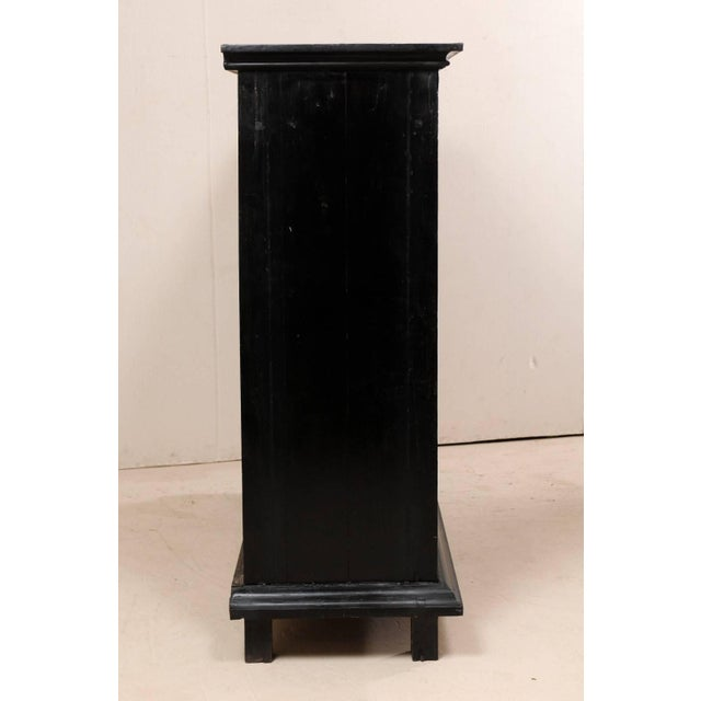 Large British Colonial Cabinet From the Mid-20th Century of Dark Ebonized Wood For Sale - Image 11 of 12