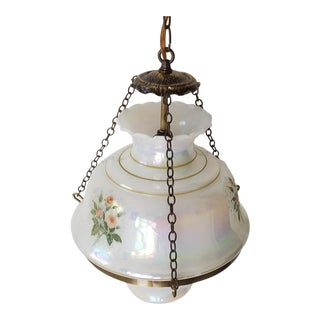 1930s Vintage Floral Art Decor Pendant Lighting For Sale