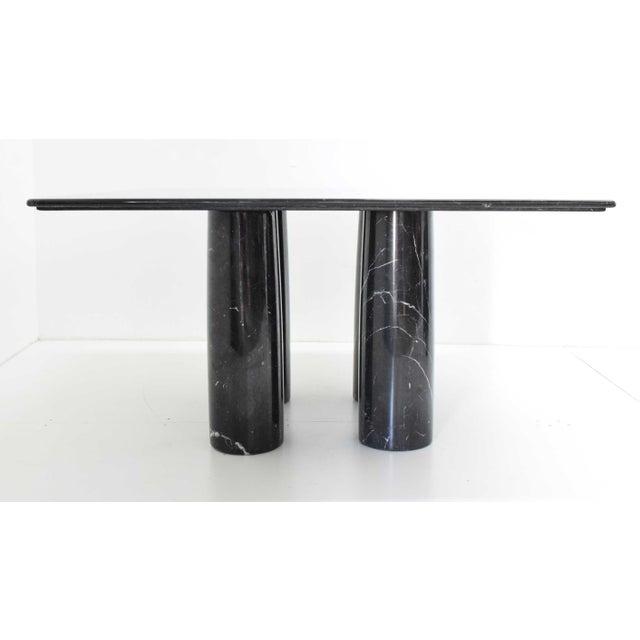 Cassina Mario Bellini Il Colonnato Black Marble Table For Sale - Image 4 of 13