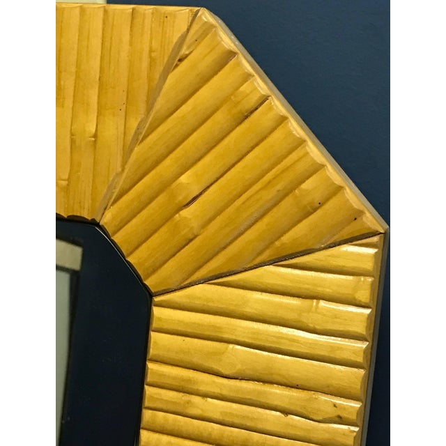 Modern Bamboo Modern Mirror With Brass Finnish For Sale - Image 3 of 6