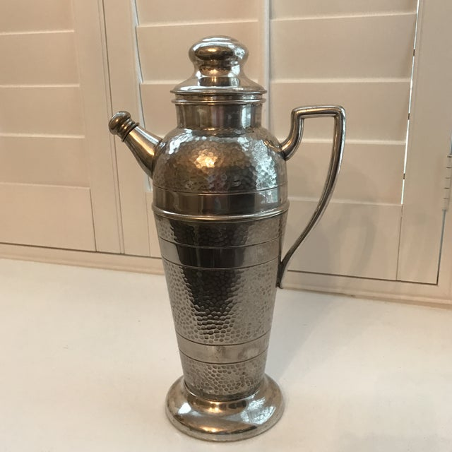 Art Deco Forbes Silver Co. Art Deco Martini Shaker For Sale - Image 3 of 11