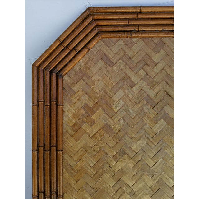 Mid 20th Century Carved Faux Bamboo Twin Headboards, a Pair - Taiwan For Sale - Image 5 of 10