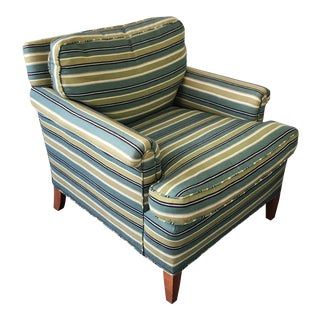 Transitional Rolled Armchair