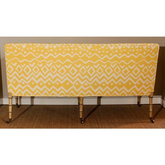 19th Century English Upholstered Sofa or Bench For Sale In Richmond - Image 6 of 9