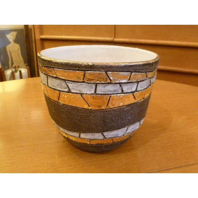 Modern Large Modernist Aldo Londi Pottery Bowl For Sale - Image 3 of 8