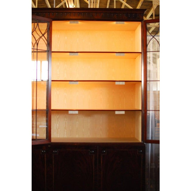 Wood Historical George III Mahogany Display Cabinet Bookcase For Sale - Image 7 of 10