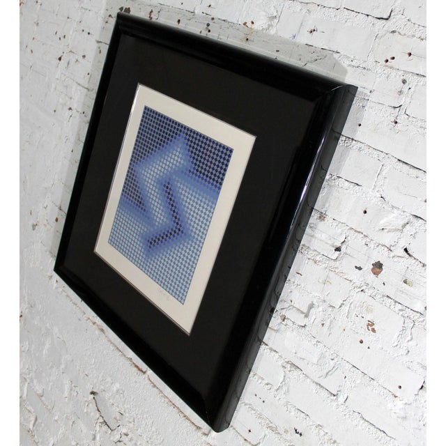 Victor Vasarely Sembe by Victor Vasarely Serigraph in Color Pencil Signed Numbered For Sale - Image 4 of 9