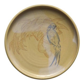 Art Deco Platter With Tropical Motif For Sale