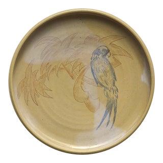 Art Deco Platter With Tropical Motif