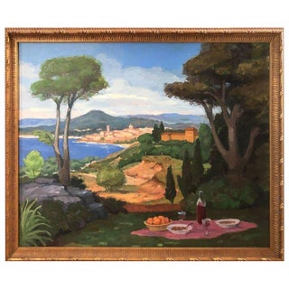 Italy Bucolic Landscape Painting For Sale