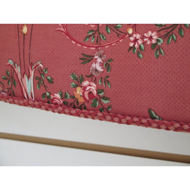 2010s Custom Made Floral Print Box Window Valance For Sale - Image 5 of 9