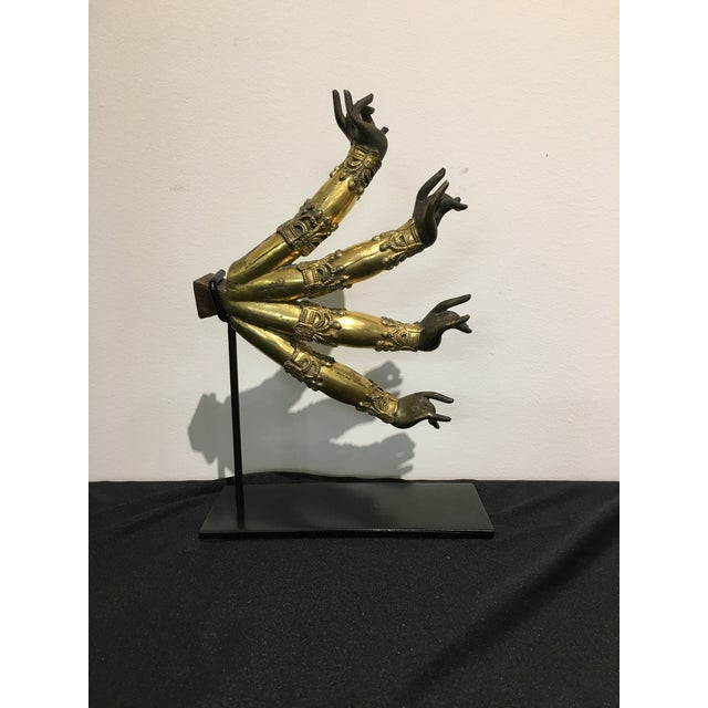 Asian Tibetan Gilt Bronze Arms of a Bodhisattva For Sale - Image 3 of 8