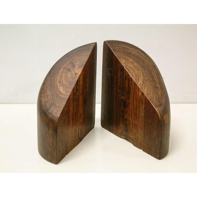 Mid-Century Modern 1960s Don Shoemaker Cocobolo Wood Bookends - a Pair For Sale - Image 3 of 10