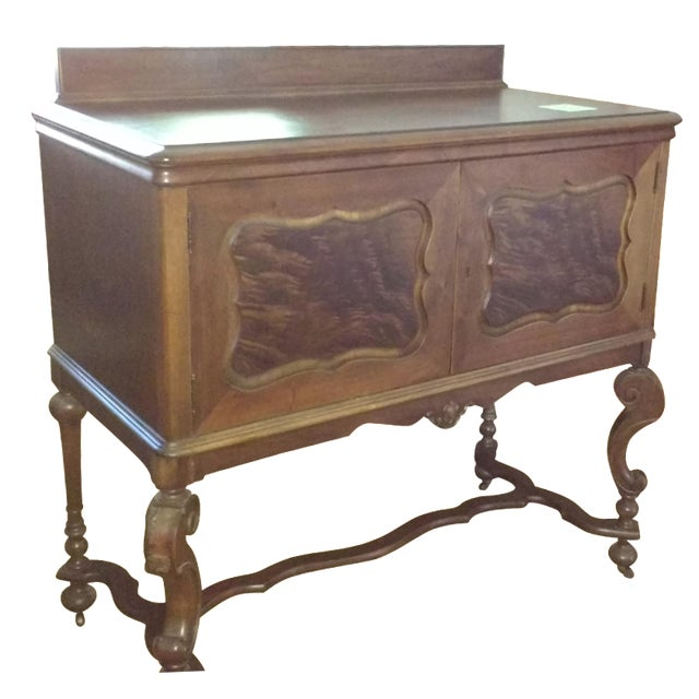 Antique Serpentine Sideboard Buffet - Image 2 of 10